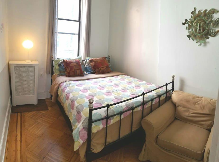 Master bedroom with a big closet