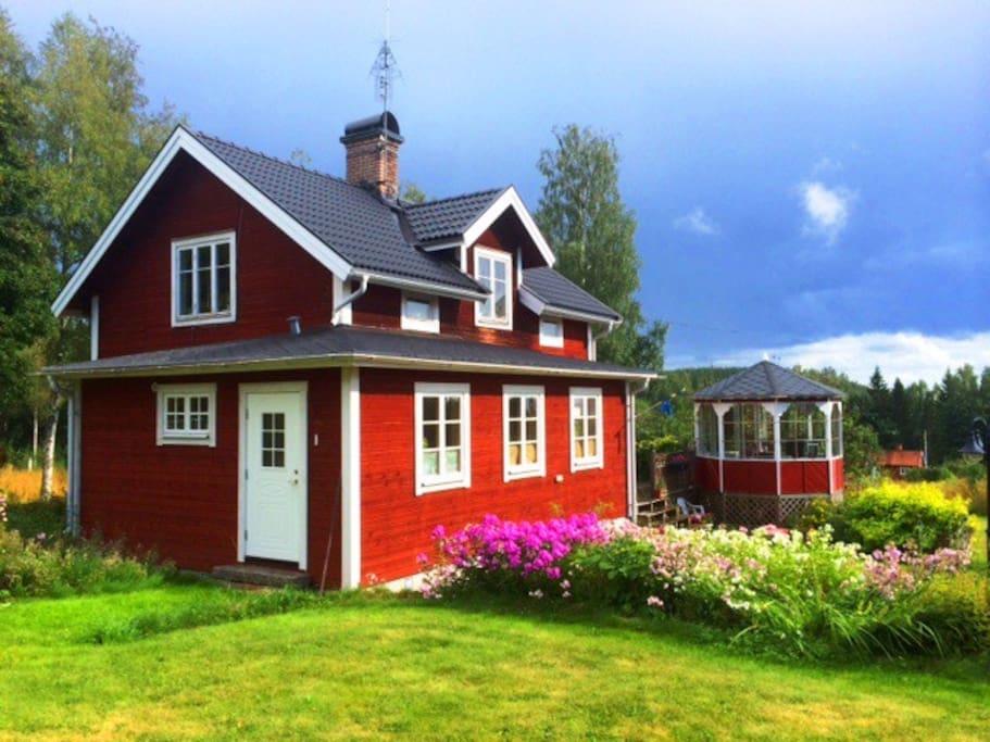 Huset från norr sidan.