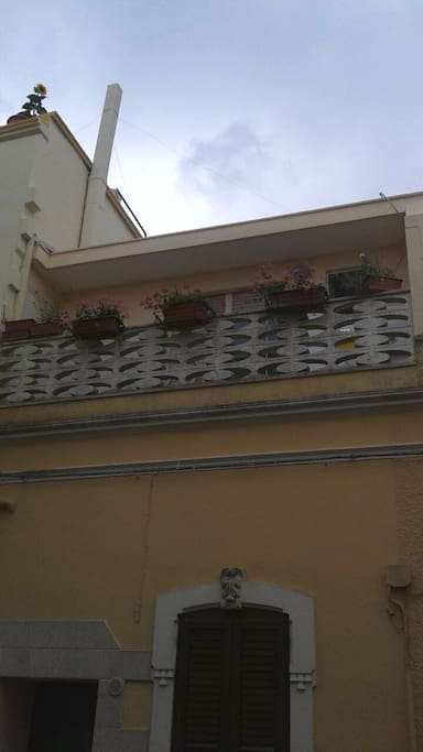 Vista esterna del balcone