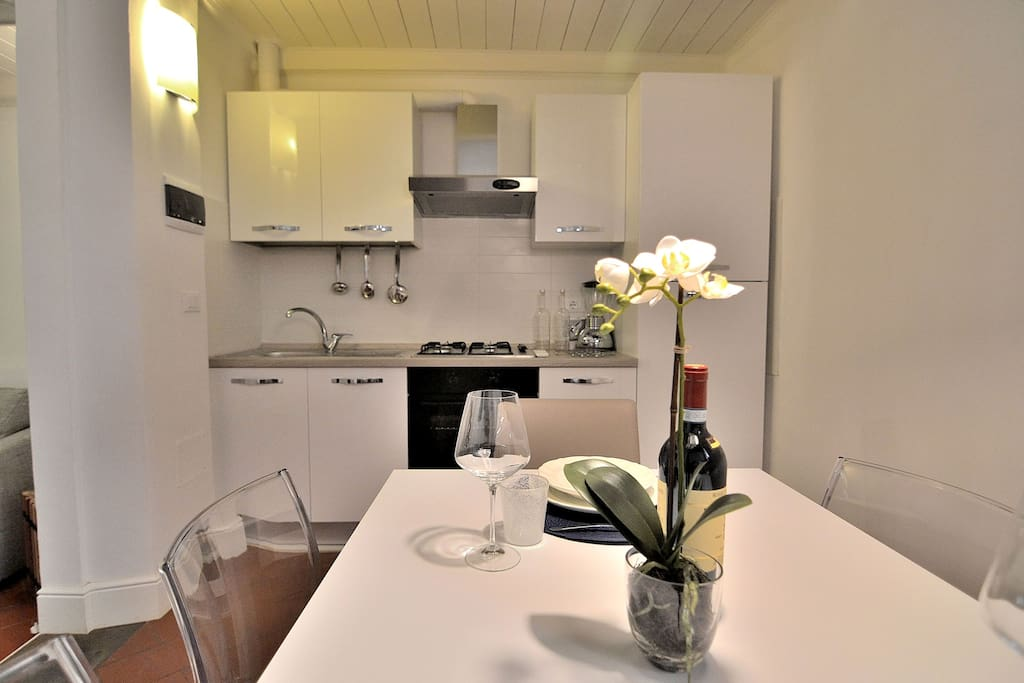 Microwave and Kettle at your disposal also. Kitchen and Dining area!