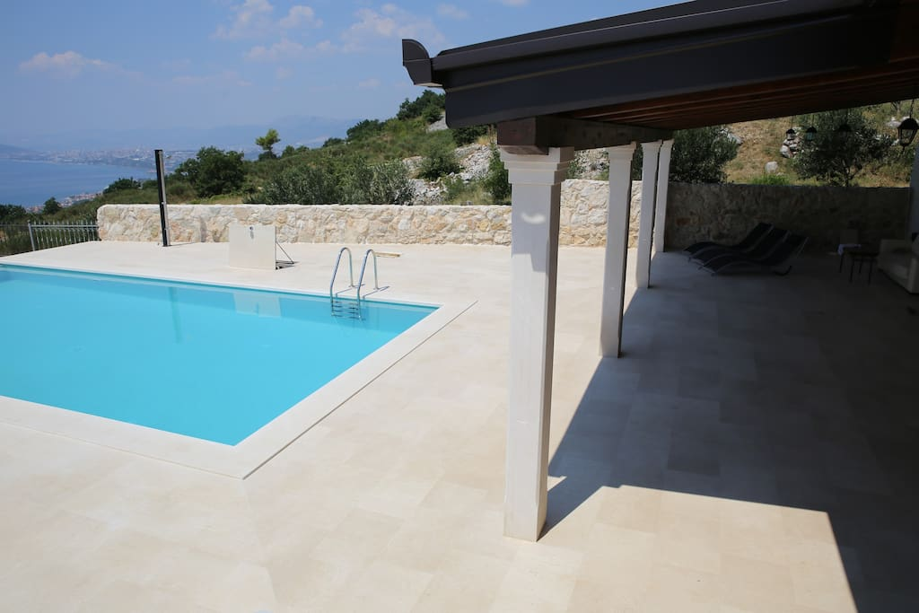 Outdoor pool and sun terrace