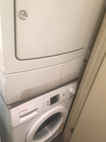 Washing machine and dryer for guests' use