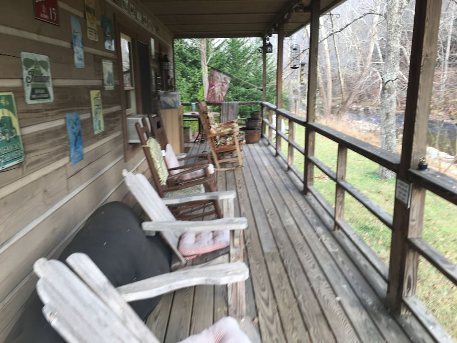 Back porch with river view