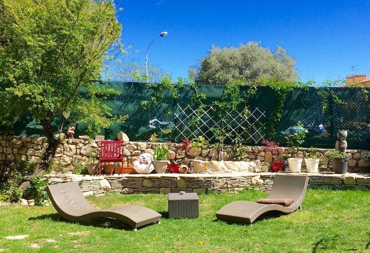 Pti budget, grand jardin, cuisine