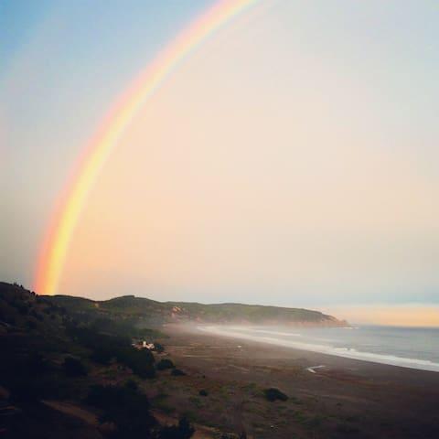 Hasta 15 pers,encima de la playa