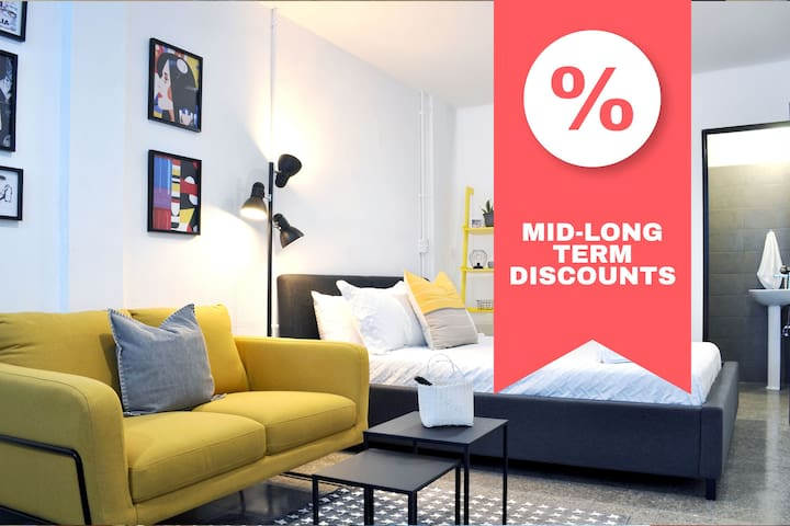 ✸DISCOUNT✸ Contemporary Downtown Studio / 2 PPL