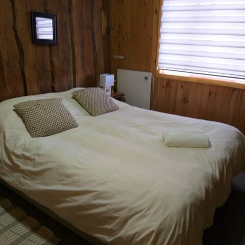 habitación con baño compartido en chiloe