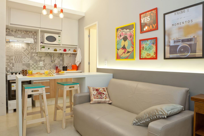 Nosso apartamento totalmente reformado e funcional