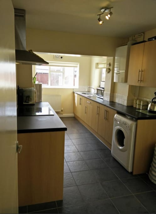 Large extended kitchen