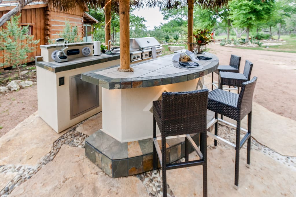 Outdoor kitchen available for cabin renters