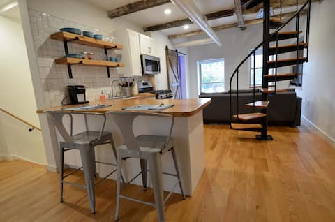 Modern carriage house in heart of downtown Troy!