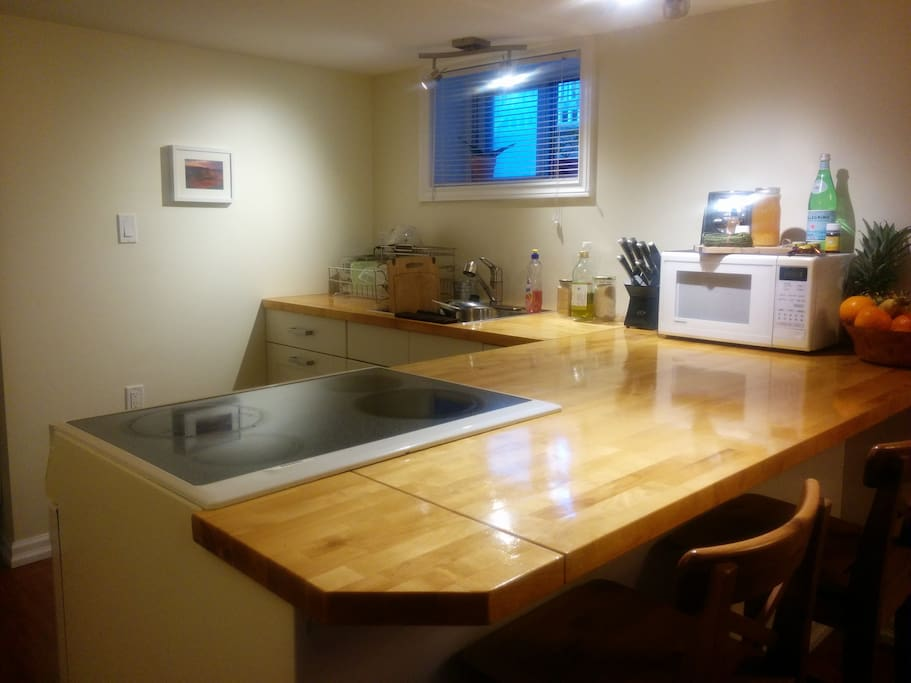 Fully equipped kitchen for your use