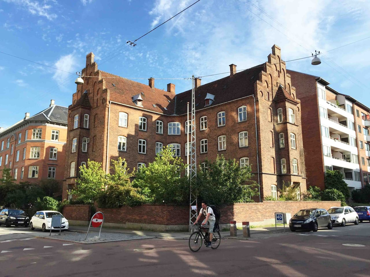 View of the building of the apartment
