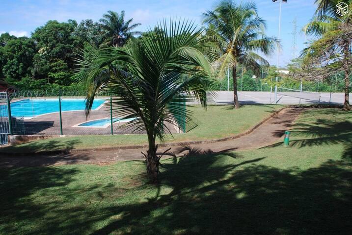 Charmant T1 bis dans résidence piscine et tennis - Cayenne - Apartment