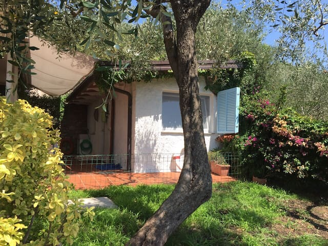 Pretty little chalet with sea view - Lerici - Kabin