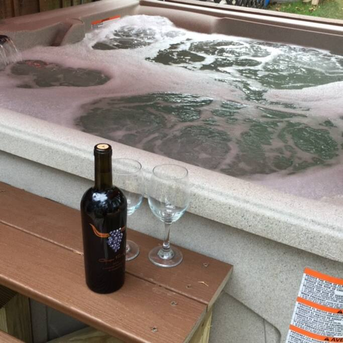 Relax? You bet!! Hot tub always ready!