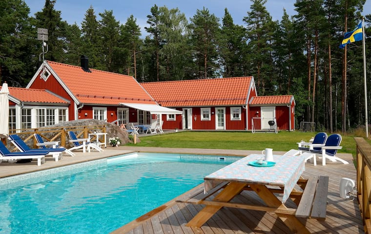 Swedish Dream: Sea, Pool & Sauna - Norrtälje - Rumah
