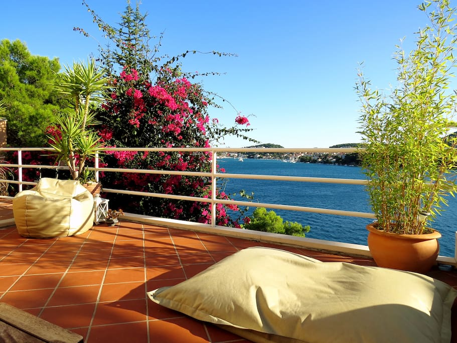 Terrace with an absolutely stunning sea view
