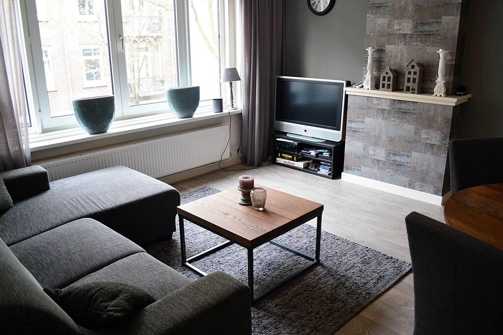 The living room has a nice TV