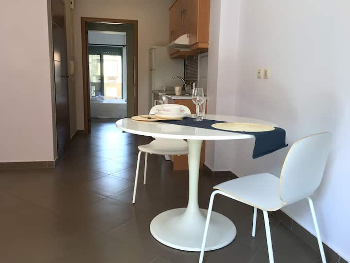 A friendly apartment in the town center