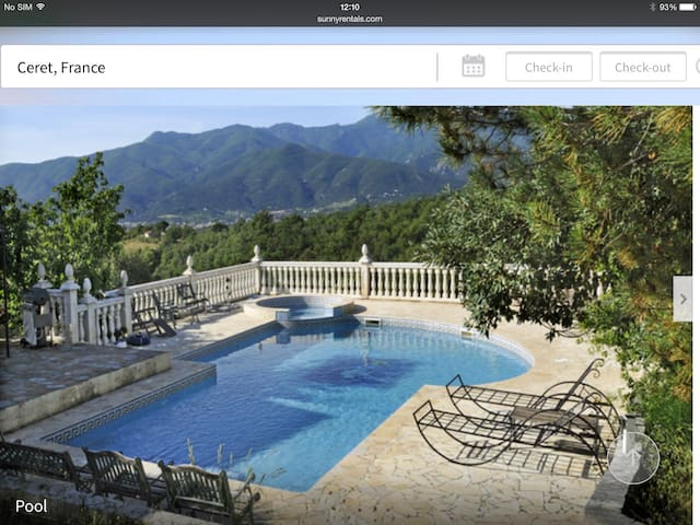 Magnificent Villa. pool. jacuzzi. - Céret