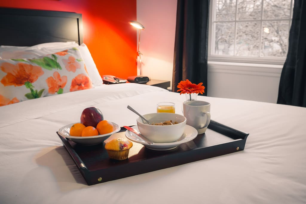 Bring breakfast back to your room