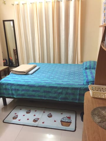 One Bedroom,  attached, Fully Furnished with AC.