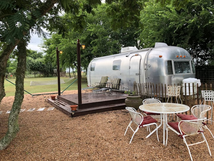 The Airstream with Barn Bath  Round Top, Texas