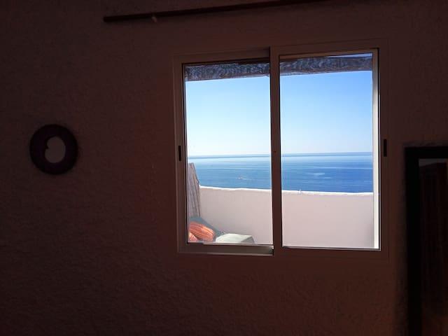 Habitación y terraza con vistas al mar, 2 personas