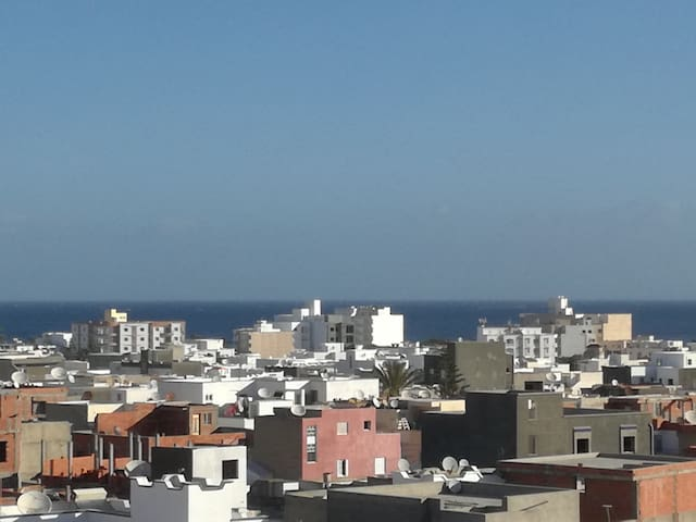 Vue de la terrasse (proximité mer)