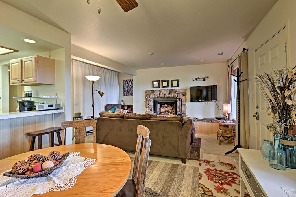 The condo offers 2 bedrooms and 2 bathrooms.