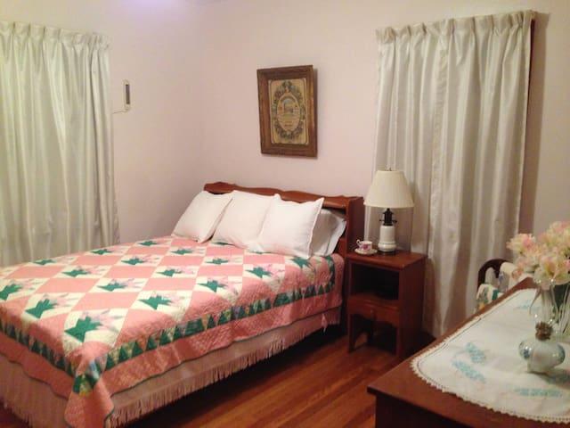 Main Floor Bedroom with Full Bed.