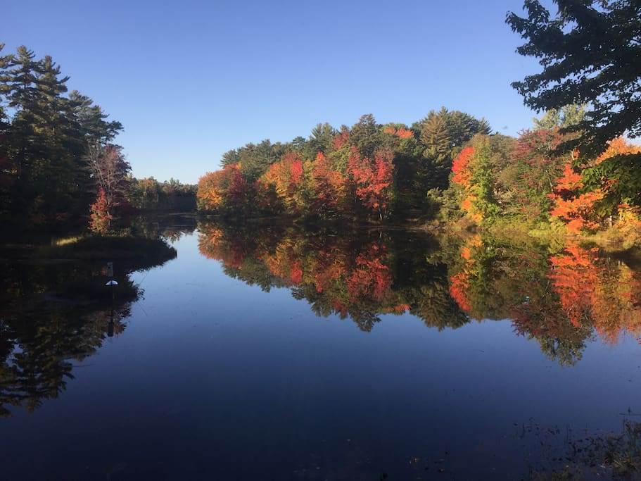 Fall on Pequawket Pond.