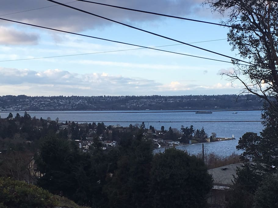 View to Browns Point park from Airbnb