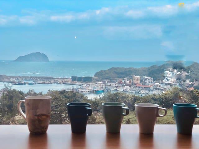 最浪漫景觀海景,在家中,喝咖啡,看島嶼,靜心享受聚會兩相宜!