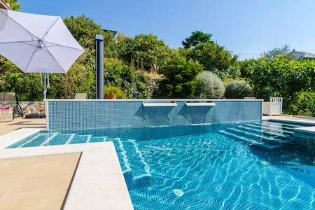 A stylish two bedroom villa apartment with pool - Orašac - Apartamento