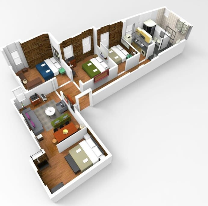 3d plan of the flat