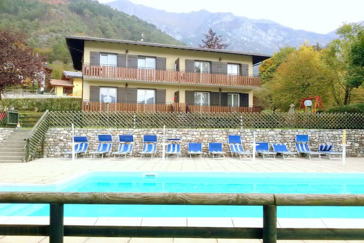 Renovated apartment with lake view, swimming pool, wifi, in Val di Ledro