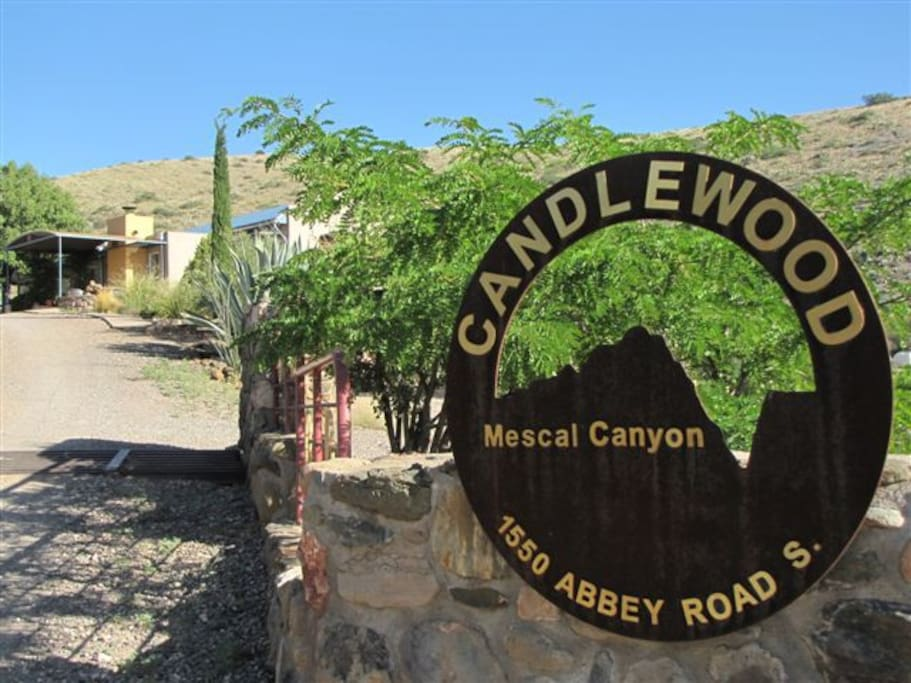 Entry to Mescal Canyon Retreat @ Candlewood
