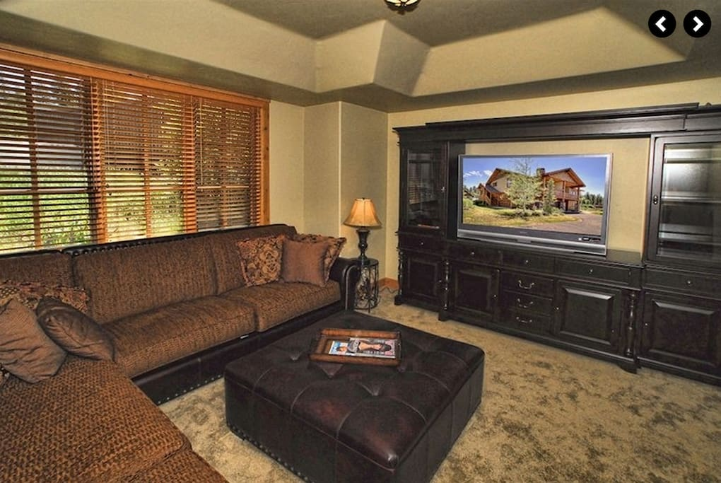 Media room with Large couches