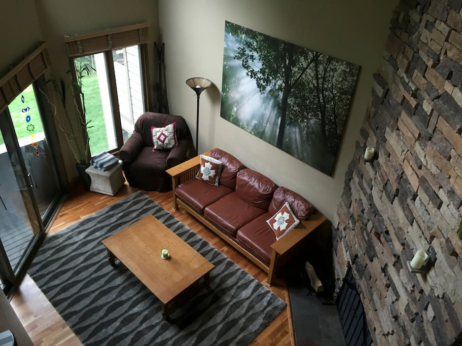 Looking down on Family Room from Master Upper