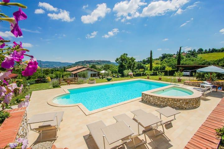 Maison avec piscine privée et belle vue d'Orvieto