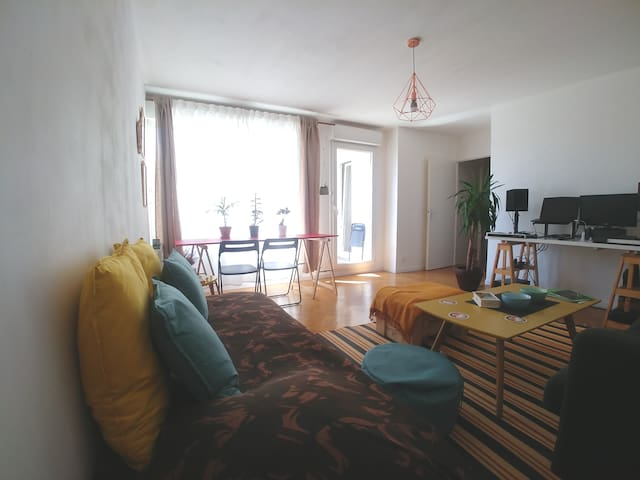 Spacious and cosy flat  (11mn to Paris central)