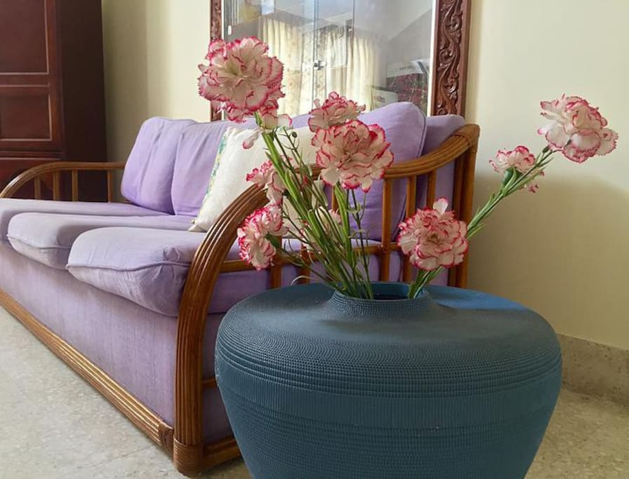 Living Room with Vase