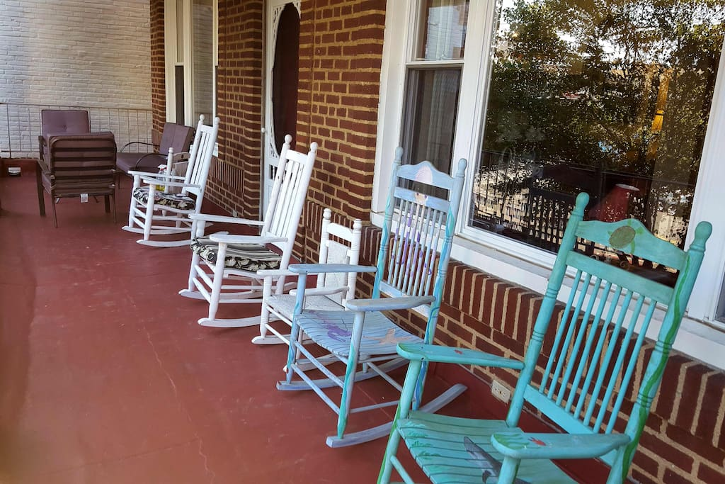 Relax and enjoy cool ocean breezes on our front porch.