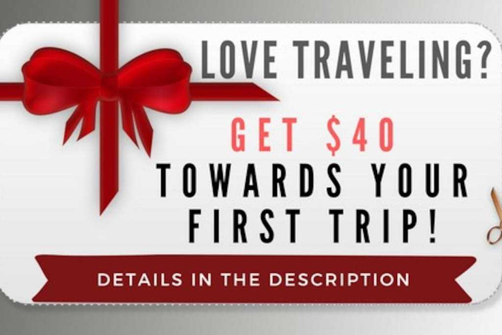 Get $40 off your first stay - link below