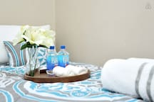 Guests can always expect fresh clean linens and towels.