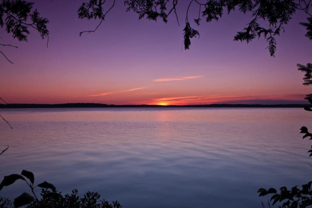 Sunset on the Golden Lake