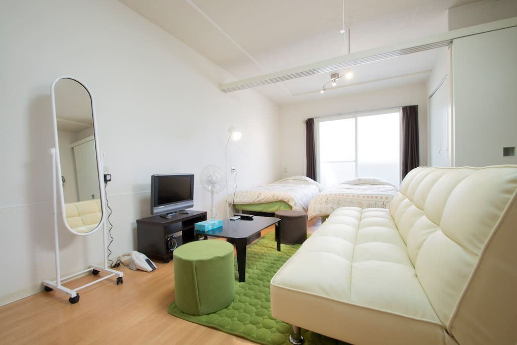 Spacious room that can accommodate up to 4 guests
