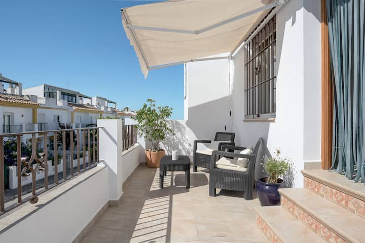 Air-Conditioned Apartment Juan 1 Close to the Beach, with Balcony & Wi-Fi